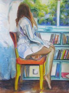 Violetta MALATERRE - Zeichnung Aquarell - Tea Time