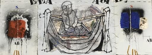 James COIGNARD - Grabado - Le pêcheur