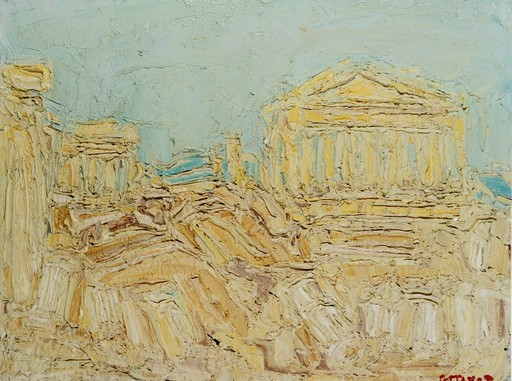 André COTTAVOZ - Painting - L'acropoli