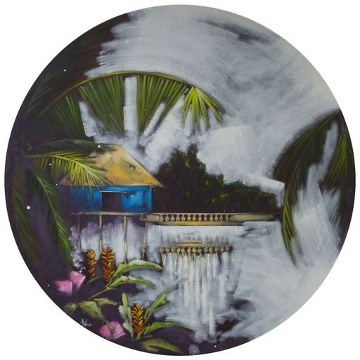 Anne Christine WELLENSTEIN - Peinture - Cabanon bleu