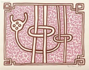 Keith HARING, Chocolate Buddha 5