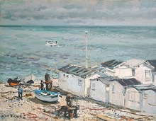 Jean RIGAUD - Painting - Yport, Normandie