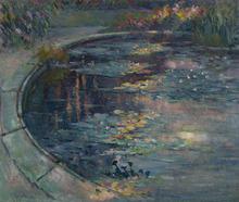 Robert Antoine PINCHON - Pintura - Le bassin aux nymphéas au jardin des plantes à Rouen