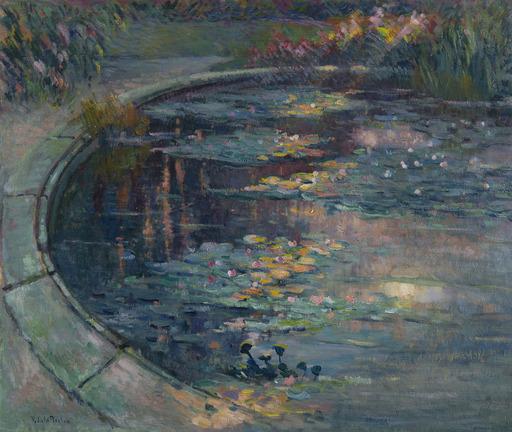 Robert Antoine PINCHON - Peinture - Le bassin aux nymphéas au jardin des plantes à Rouen