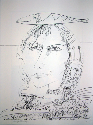 John BELLANY - Druckgrafik-Multiple - The Call of the Sea 4 - Woman of Another Land