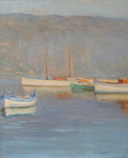 Marcel CANET - Pintura - Bateaux près d'Alger