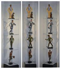 Antonio SEGUI - Sculpture-Volume - Ensemble de 4 sculptures