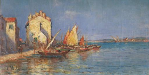 James WILHEMS - Pittura - Quai et Canal Saint Sébastien.Les Martigues