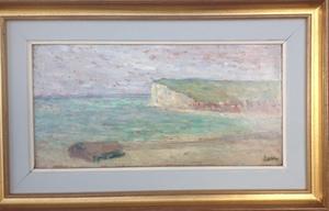 Maximilien LUCE - Painting - FALAISE A MERS LES BAINS