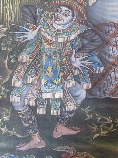Nyi Ketut PARSA - Painting - Théatre indonésien