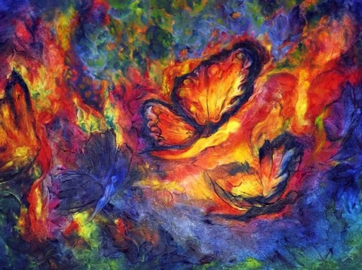 Anne Marie DELABY - Pittura - Butterfly