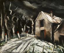 Maurice DE VLAMINCK - Pintura - Paysage de neige