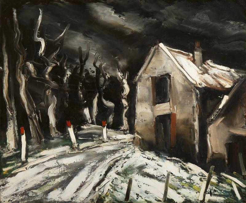 Maurice DE VLAMINCK - Painting - Paysage de neige