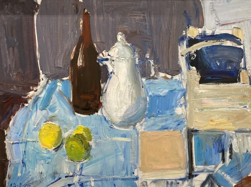 Albert DE DEKEN - Pintura - Het witloofbakje