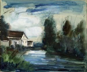 Maurice DE VLAMINCK - Pittura - Sans titre