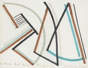 Alberto MAGNELLI - Drawing-Watercolor - Composition