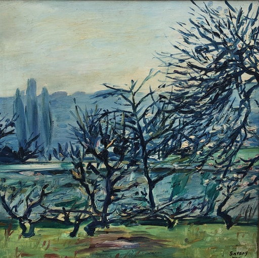 Robert SAVARY - Painting - Les arbres