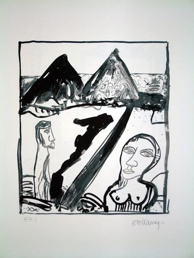 John BELLANY - Druckgrafik-Multiple - The Wanderer 2 - Two Hills