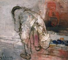 Jean JANSEM - Peinture - L'Homme au manteau