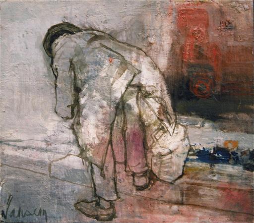 Jean JANSEM - Painting - L'Homme au manteau