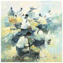 Cesar BUENAVENTURA Y ESPINOSA - Peinture - The Market