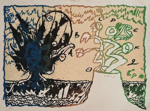 皮埃尔·阿列钦斯基 - 版画 - Volcan alphabétique