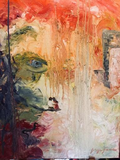 Serge SIEVIC - Peinture - Indiscretion
