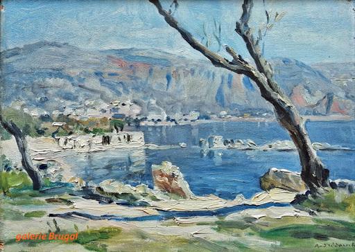 André DAUCHEZ - Pintura - Paysage de Beaulieu sur Mer