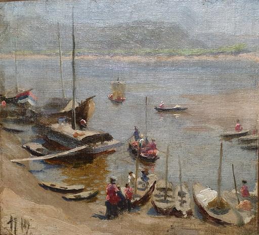 Fedor Ivanovich RERBERG - Gemälde - Stavropol on the Volga