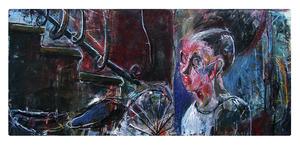 Mario SALINA - Painting - Via Fiamma
