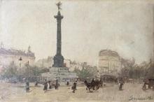 Gaspar MIRO LLEO - Pintura - Place de la Bastille Paris