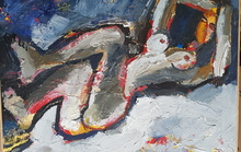 Robert DRAGOT - Painting - Mimoza et le chat bleu