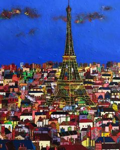 Jean-François LARRIEU - Peinture - Paris Tour Eiffel