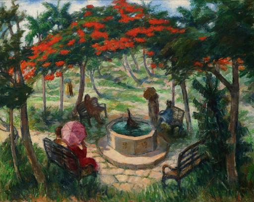 Eberto ESCOBEDO LAZO - Painting - Parque