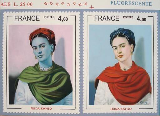 Giovan Battista ROTELLA - Pintura - Frida e il suo doppio
