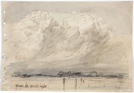 "Franz WINDHAGER - Zeichnung Aquarell - ""In Lido near Venice"""