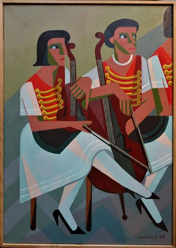 Fernand DAUCHO - Painting - Les Tziganes