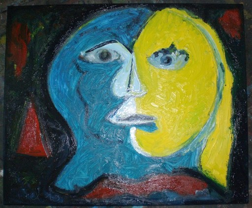 Bernard MOREL - Peinture - HOMME FEMME