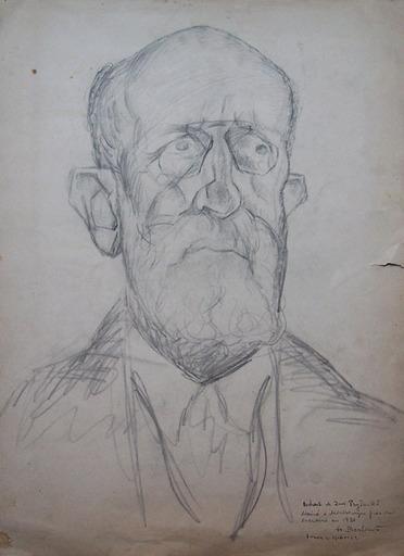 Henryk BERLEWI - Dessin-Aquarelle - Portrait of Zwi Pryturki
