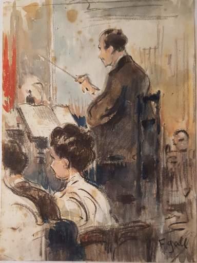 François GALL - Dibujo Acuarela