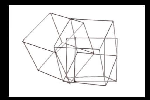 François MORELLET - Skulptur Volumen - 3 cubes imbriquès
