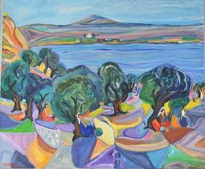 Amos YASKIL - Painting - *Olive Harvesting