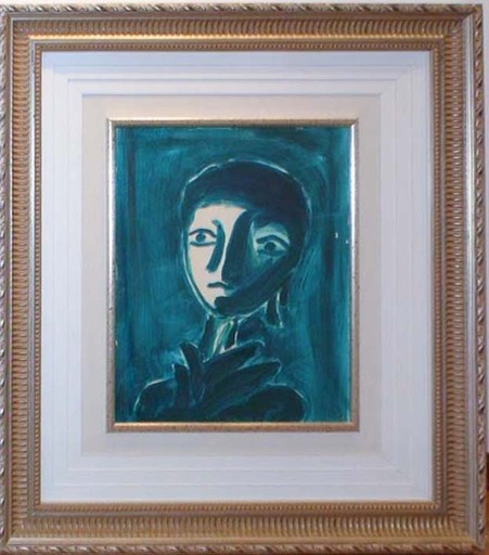 Virgilio GUIDI - Painting - Testa verde