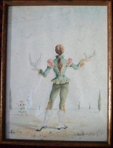 José Manuel CAPULETTI - Pintura - Danseur