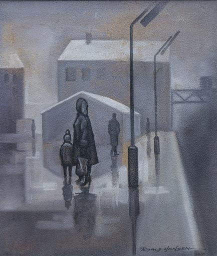 Roald HANSEN - Gemälde - Street