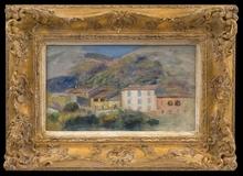 Pierre-Auguste RENOIR - Peinture - Paysage Avec Maisons, Cagnes