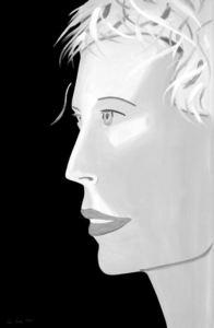 Alex KATZ - Print-Multiple - Coca Cola Girl (black and white)