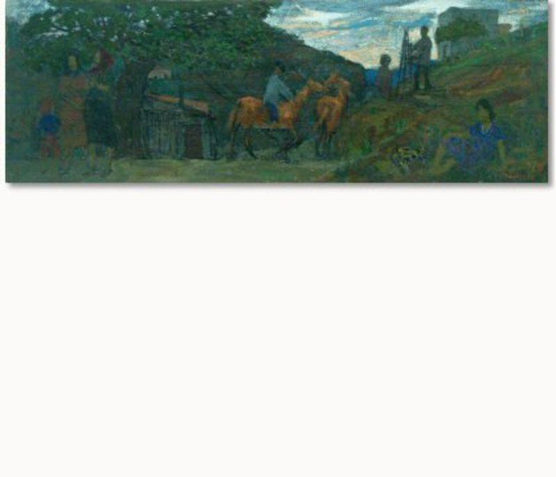 Grégoire MICHONZE - Painting - Village Scene