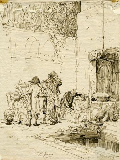 Pio JORIS - Drawing-Watercolor - ART COLLECTORS