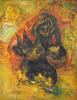 Issachar Ber RYBACK - Painting - Chicken Seller